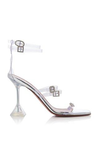 Robyn Buckle-Embellished PVC Sandals