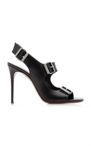 Millie Crystal-Embellished Leather Sandals