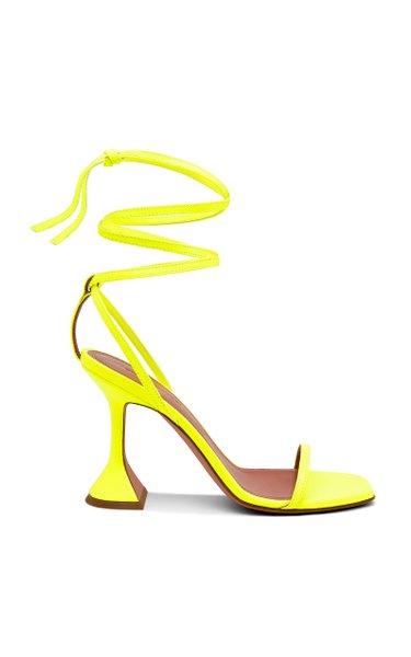 Vita Lace-Up Patent Leather Sandals