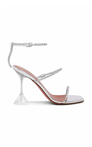 Gilda Crystal-Embellished PVC Sandals