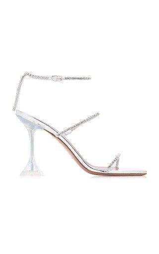 Gilda Crystal-Embellished PVC Sandals