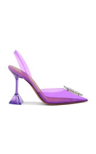 Begum Crystal-Embellished PVC Pumps