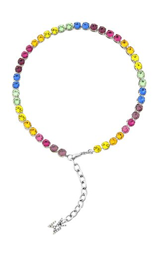 Crystal-Embellished Tennis Anklet