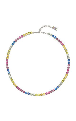 Crystal-Embellished Tennis Necklace