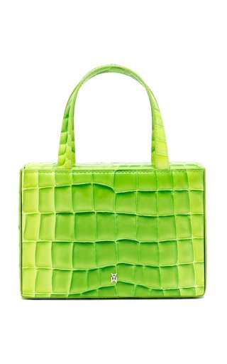 Amini Giorgia Croc-Effect Leather Top Handle Bag