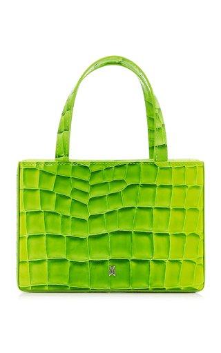 Amini Giorgia Croc-Effect Leather Top Handle Bag