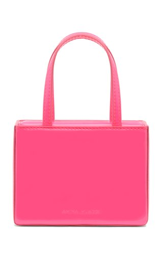 Super Amini Giorgia Patent Leather Top Handle Bag