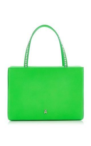 Amini Gilda Crystal-Trimmed Leather Top Handle Bag