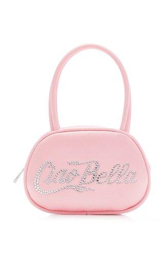 Bella Crystal-Embellished Satin Top Handle Bag