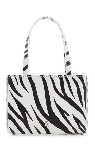 Superamina Girogia Zebra-Print Leather Tote