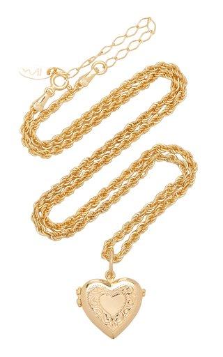 Darling 18K Gold-Plated Locket Necklace