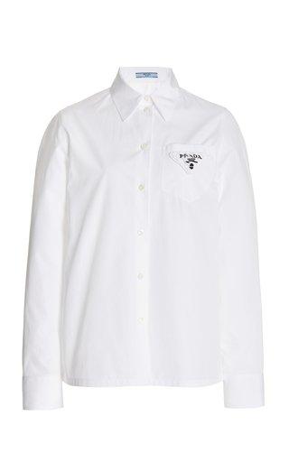 Logo-Appliquéd Cotton Poplin Shirt