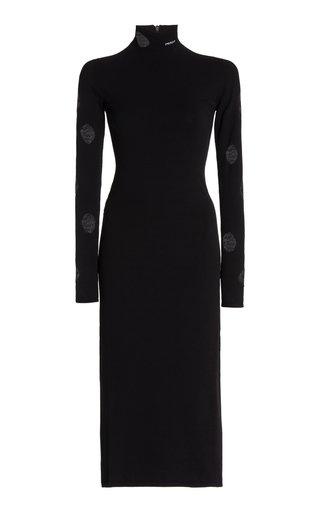 Cutout Jersey Midi Dress