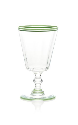 Hand-Painted Double Rim Wine Glass