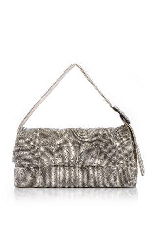 La Vitty Crystal-Embellished Shoulder Bag