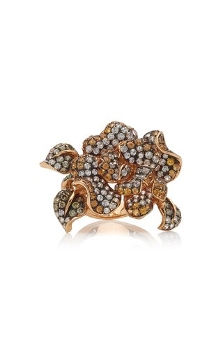 Golden Orchid 18K Rose Gold Multi-Stone Ring