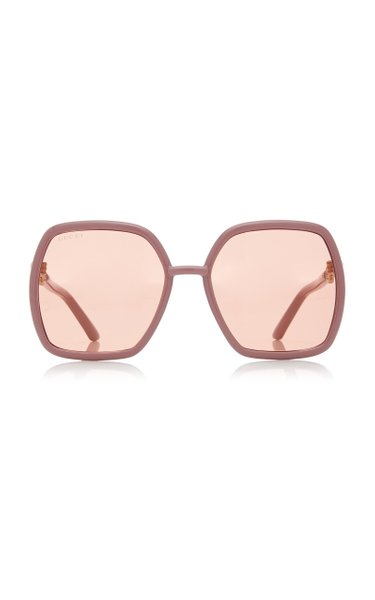 Oversized Square-Frame Injection Sunglasses