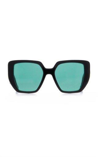 Acetate Oversized Square Frame Sunglasses