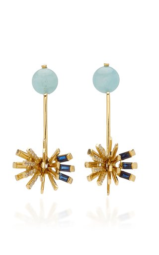 Hedgehog 18K Yellow Gold Multi-Stone Earrings
