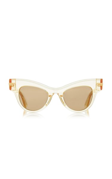 Cat-Eye Clear Acetate Sunglasses