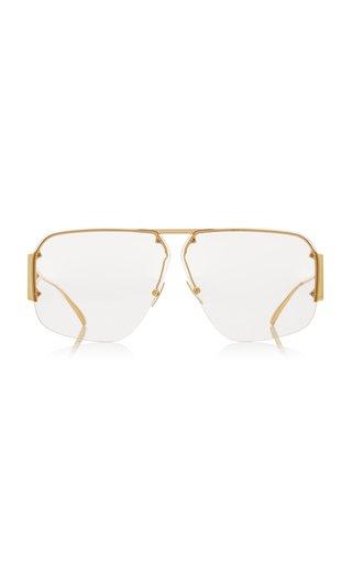 Pilot-Frame Metal Sunglasses