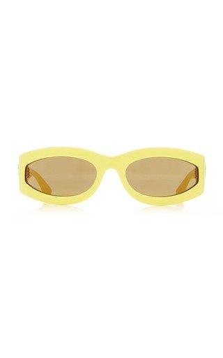 Fashion Show Oval-Frame Acetate Sunglasses