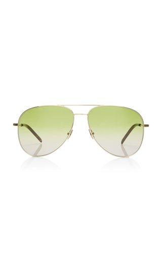 Classic Aviator-Frame Metal Sunglasses