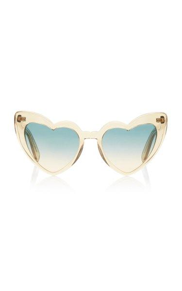 Loulou Heart-Shaped Acetate Sunglasses