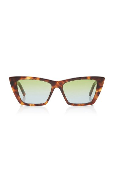 Mica Cat-Eye Tortoiseshell Acetate Sunglasses