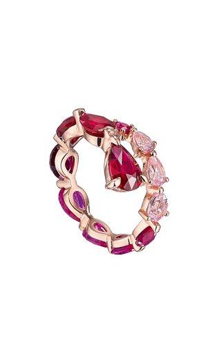 Nova 18K Rose Gold Ruby, Sapphire Ring