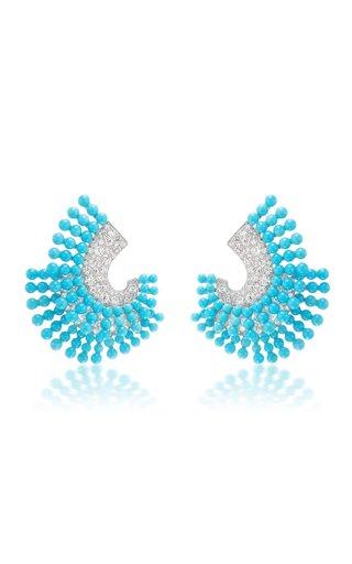 Confetti 18K White Gold Turquoise, Diamond Earrings