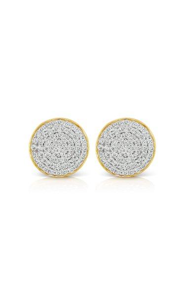Soleil 18K Yellow Gold Diamond Earrings