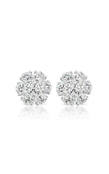 Posey 18K White Gold Diamond Earrings