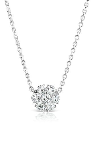 Posey 18K White Gold Diamond Necklace