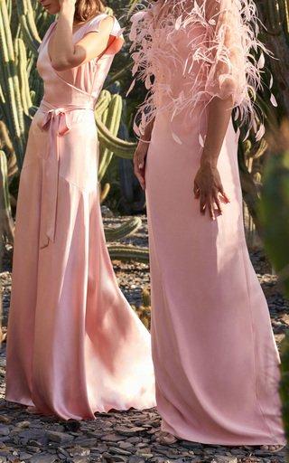 Crepe Satin Bias Gown