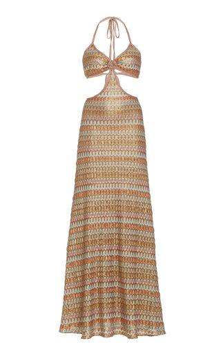 Ayumi Cutout Chevron-Knit Maxi Dress