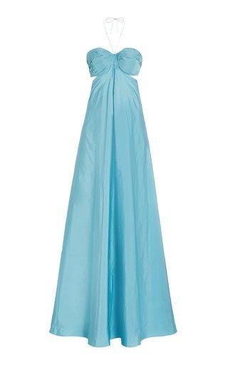 Emmeline Georgette Maxi Halter Dress