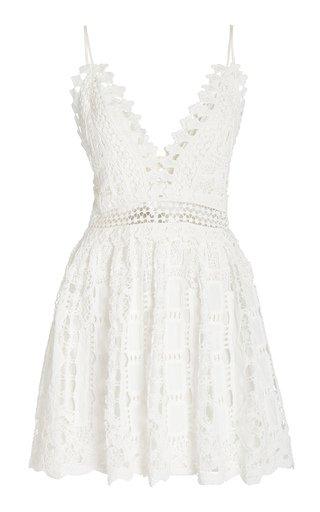 Evana Crocheted Mini Dress