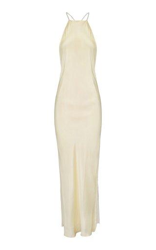 Hudsen Bias-Cut Crystal Silk Dress