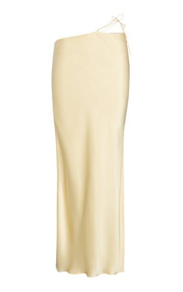 Bias-Cut Silk Slip Skirt