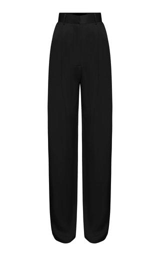 Silk-Satin Straght-Leg Pants