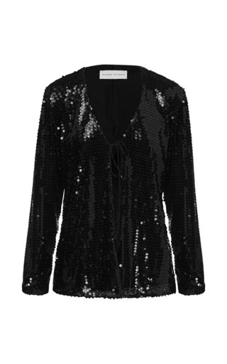 Sequined Tulle Cardigan