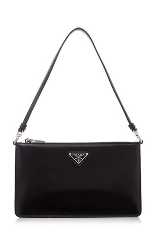 Small Spazzolato Leather Top Handle Bag