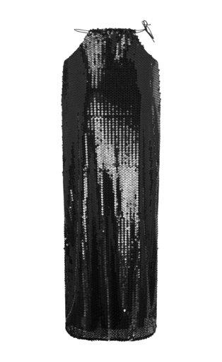 Bias-Cut Sequined Tulle Slip Skirt