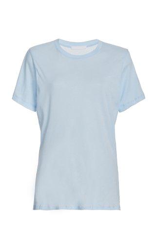 Shoulder-Padded Cotton T-Shirt