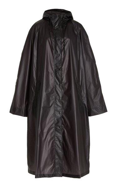 Nylon Double-Breasted Raincoat