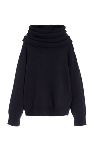 Noemie Oversized Cowl Neck Wool-Blend Sweater