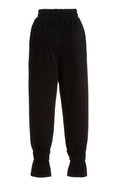Tab-Detailed Cotton Sweatpants