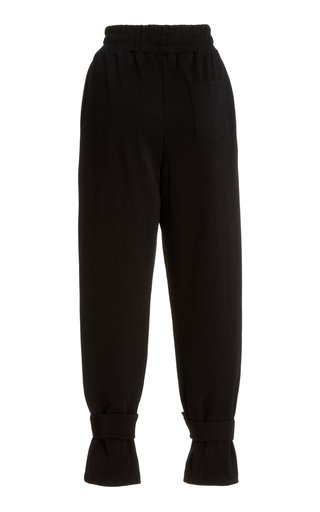 Tab-Detailed Cotton Sweatpants