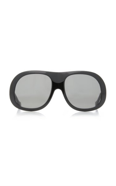 Alpine Oversized Mask-Frame Acetate Sunglasses